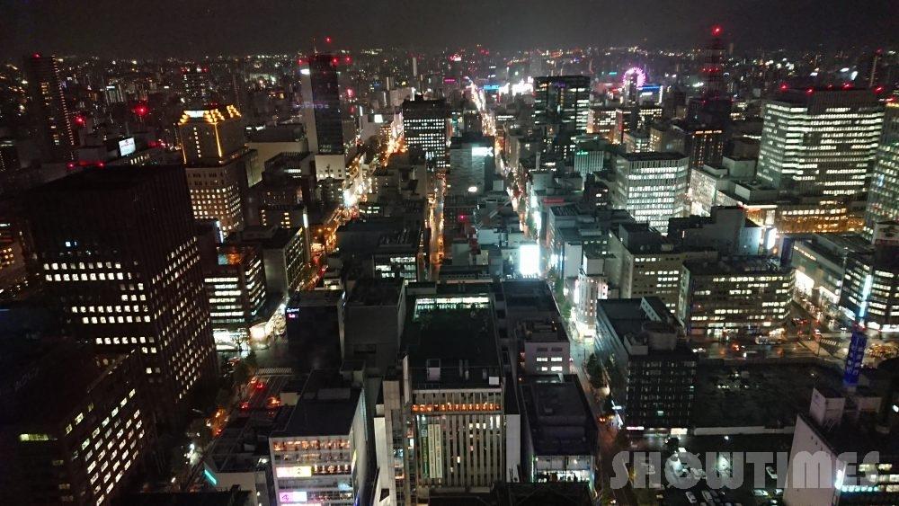 JRタワーホテル日航札幌エグゼクティブツイン33階からの夜景