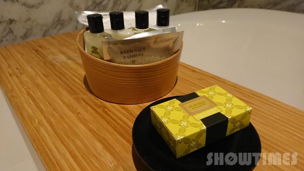 インターコンチネンタルホテル大阪デラックスダブルのバスルームアメニティ
