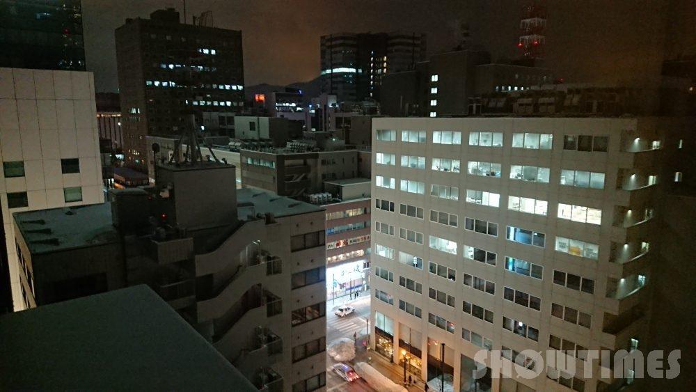 ニューオータニイン札幌プレミアムエグゼクティブツインの夜景