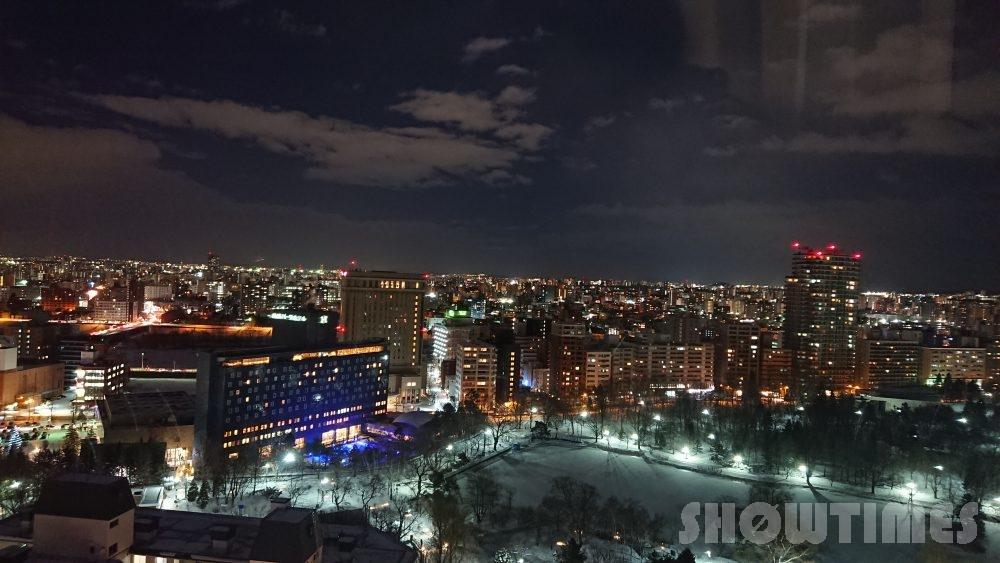 プレミアホテル中島公園デラックスラージダブルからの夜景