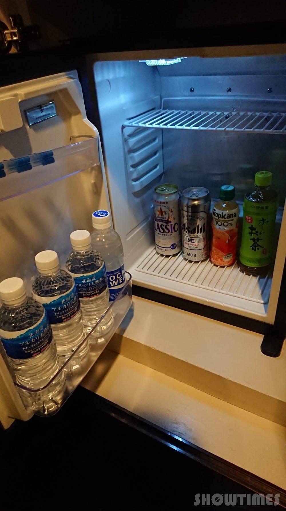 プレミアホテル中島公園デラックスラージダブルの冷蔵庫