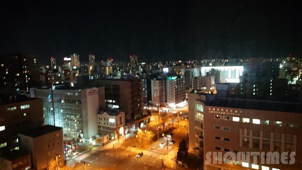札幌プリンスホテルタワースーペリアダブルルームからの夜景1
