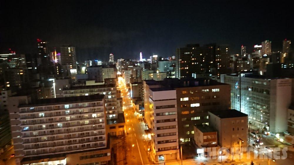 札幌プリンスホテルタワースーペリアダブルルームからの夜景2