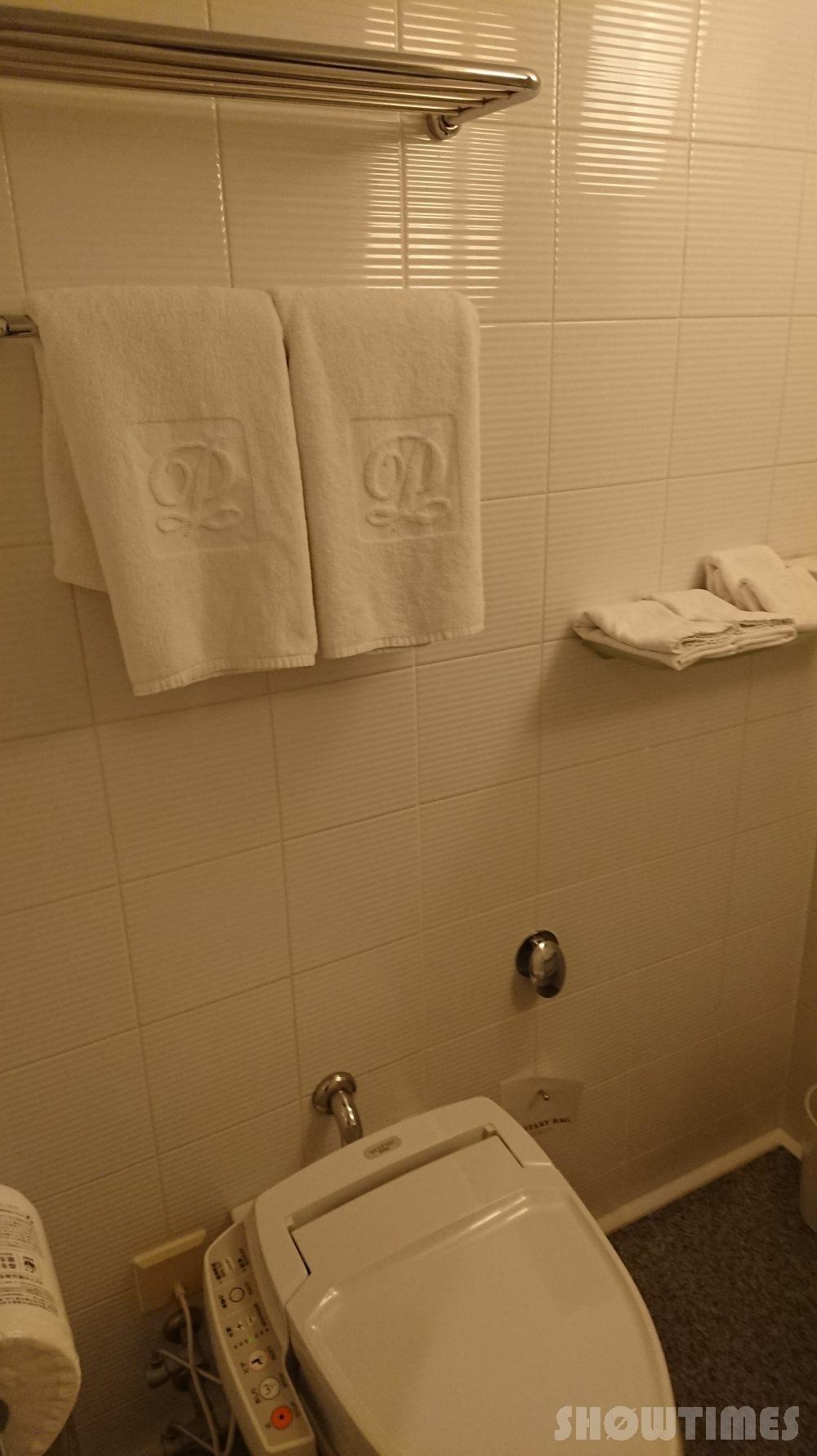 札幌プリンスホテルタワースーペリアダブルルームのトイレ