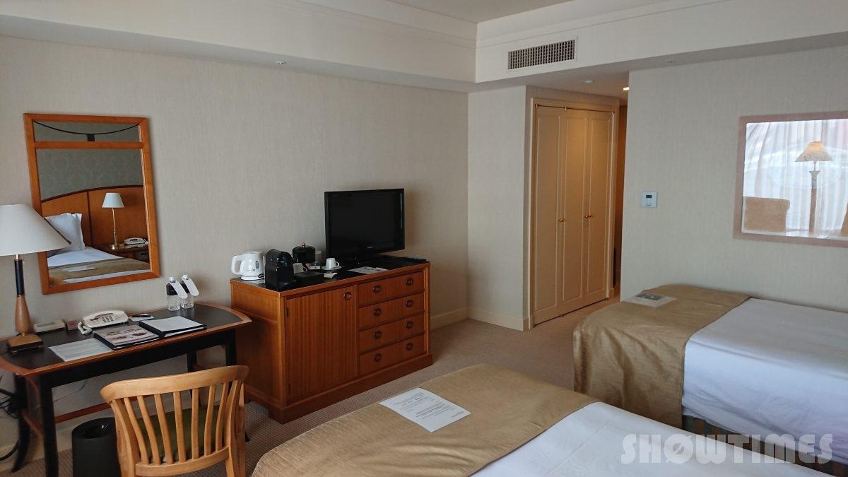 ホテルインターコンチネンタル東京ベイレギュラーフロアスーペリアリバービューツインのベッドルーム2