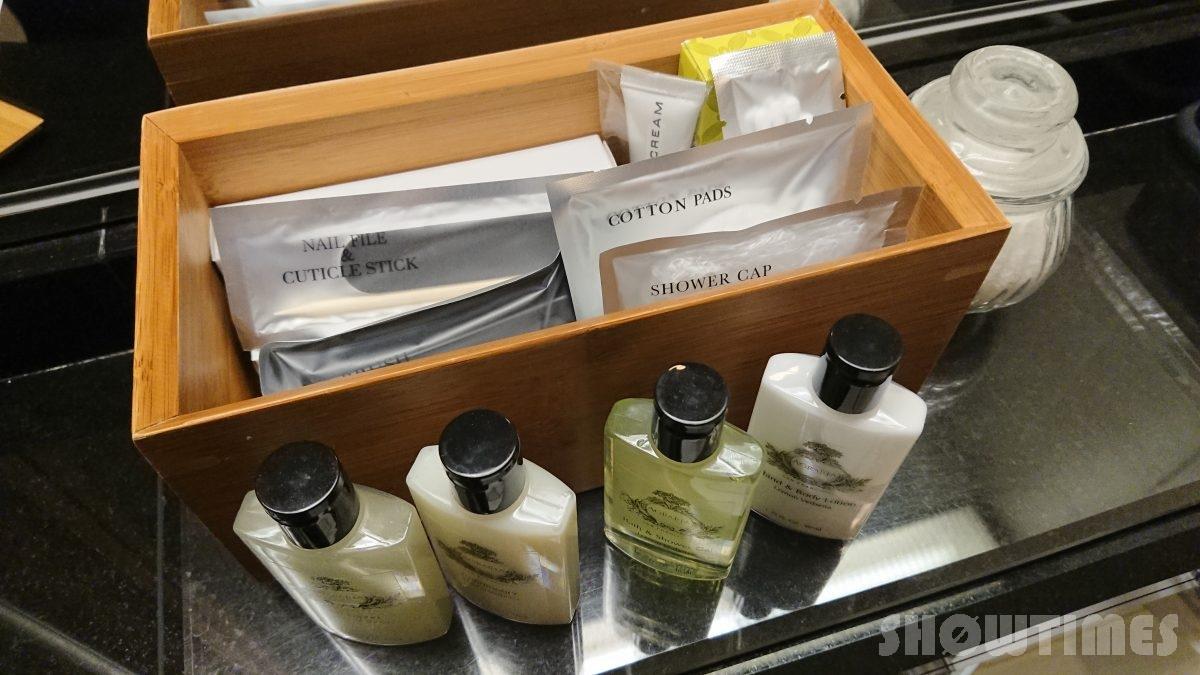 ホテルインターコンチネンタル東京ベイレギュラーフロアスーペリアリバービューツインのアメニティ