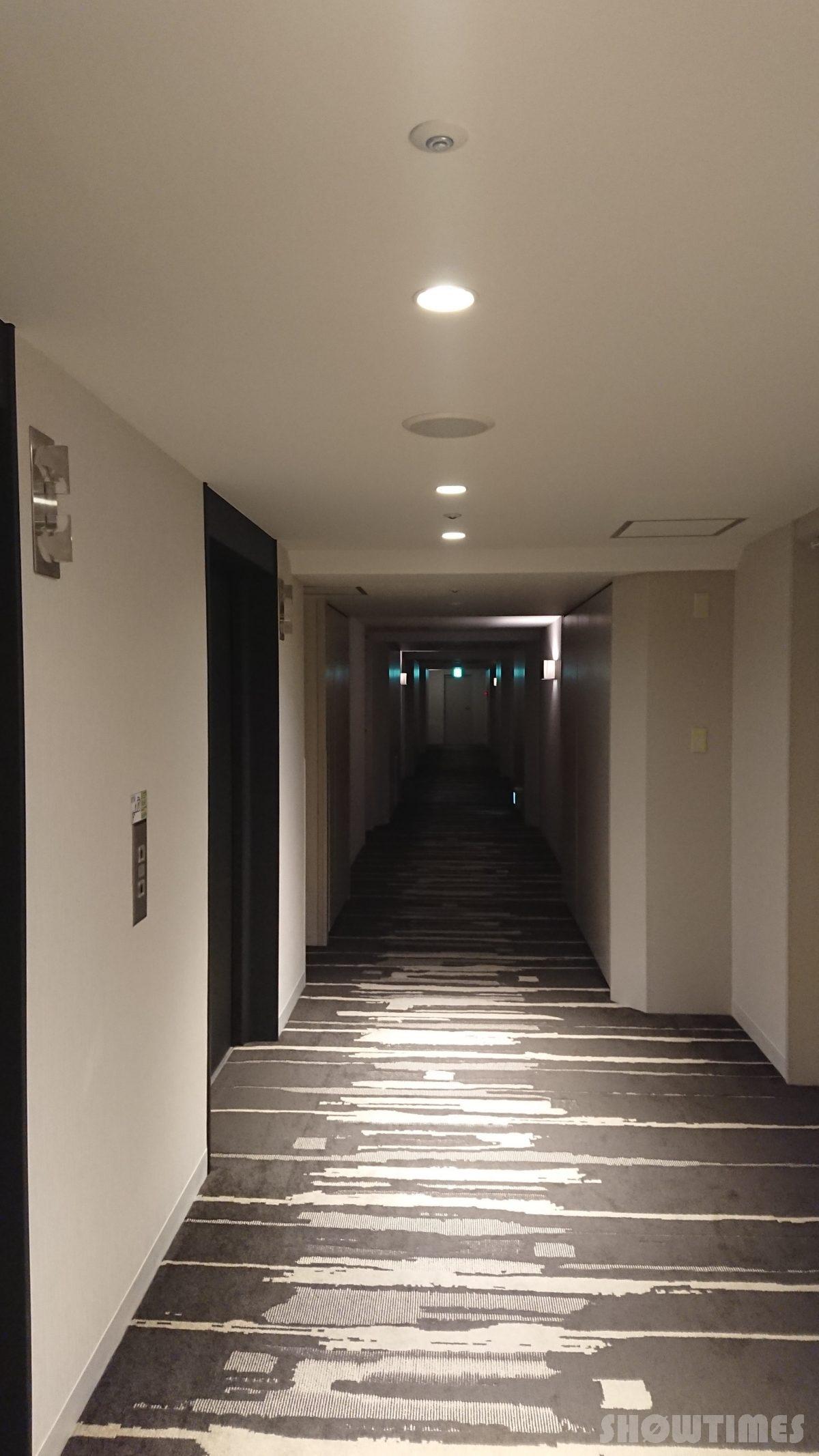 ANAクラウンプラザホテル札幌の客室階廊下