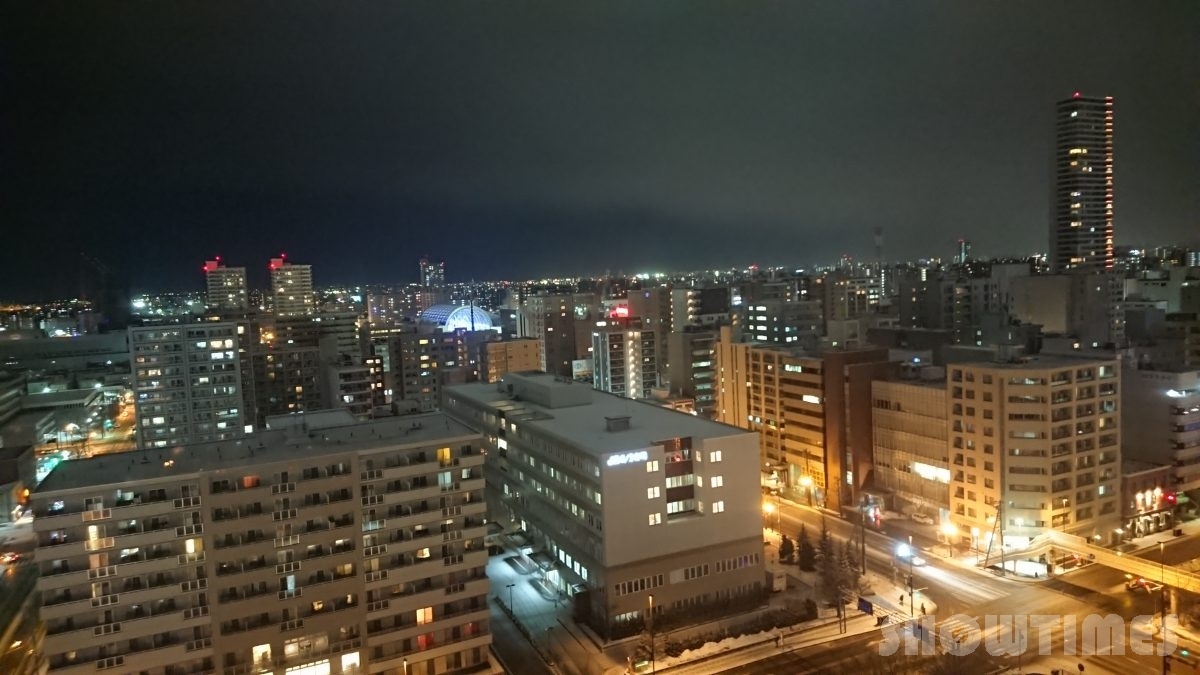 ANAクラウンプラザホテル札幌デラックスダブルの夜景2